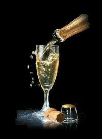 Pour a  Glass of Champagne to Celebrate the New Year