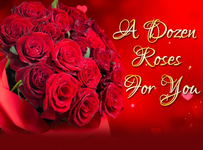 A dozen roses for you for 12 dozen roses at your door