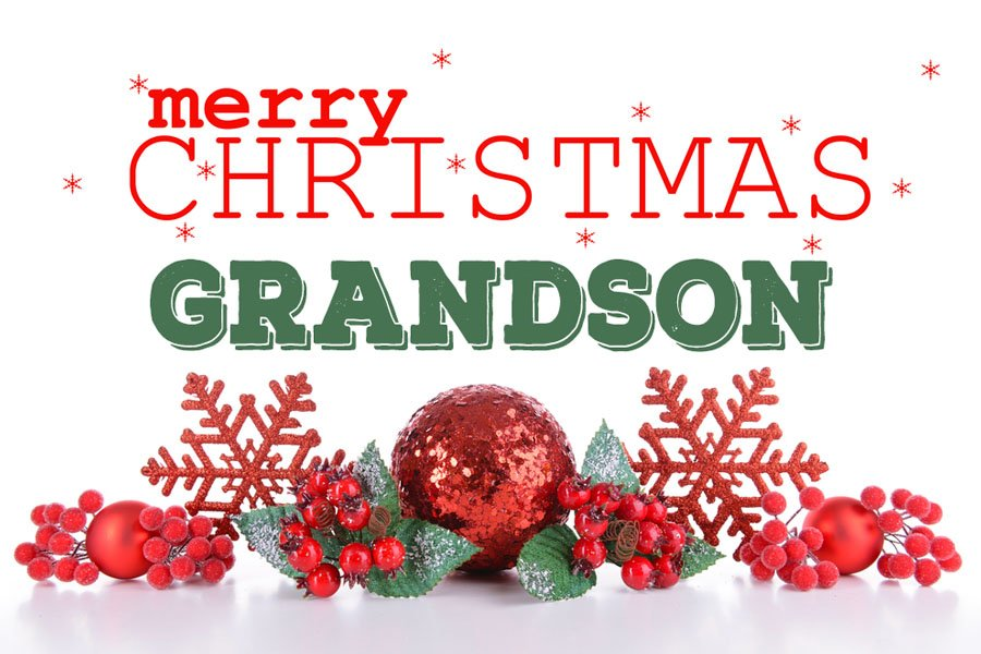 Merry Christmas Grandson