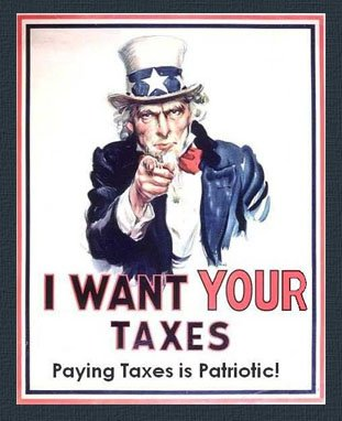Uncle Sam Wants Your Tax Dollars - Paying Taxes is Patriotic