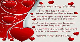 A Valentine Blessing (Postcard)