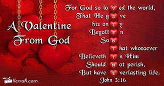 Valentine From God (Postcard)