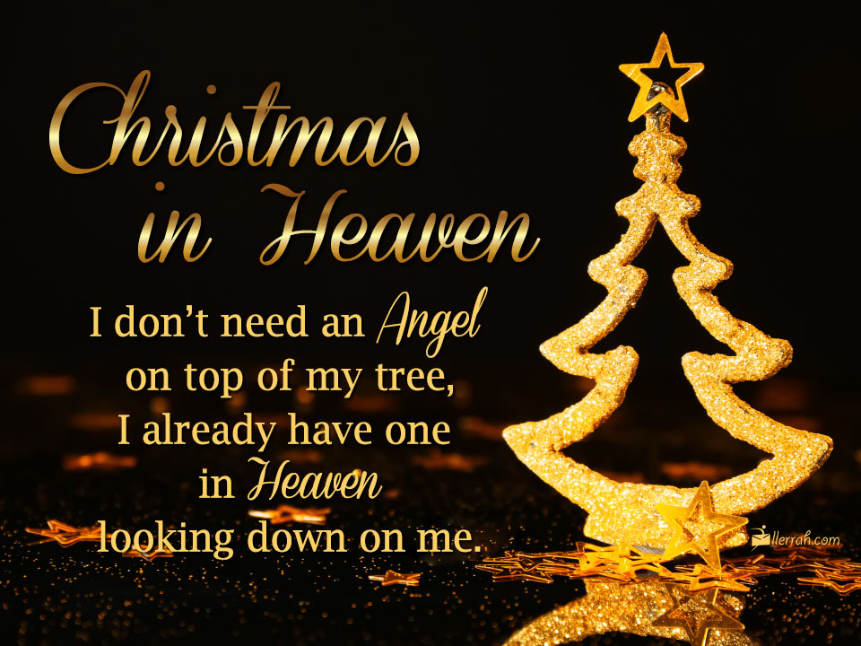 Christmas In Heaven.Christmas In Heaven