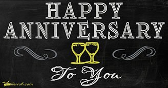 A Toast to your Anniversary (Postcard)