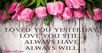 Loved You Always (Postcard)
