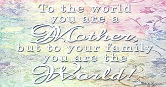 Mothers are the World (Postcard)