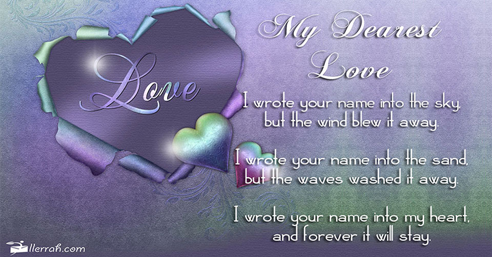 Dearest Love(Postcard): llerrah.com/carddearestlove.htm