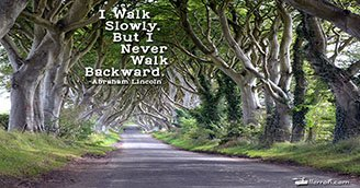 Never Walk Backward (Postcard)