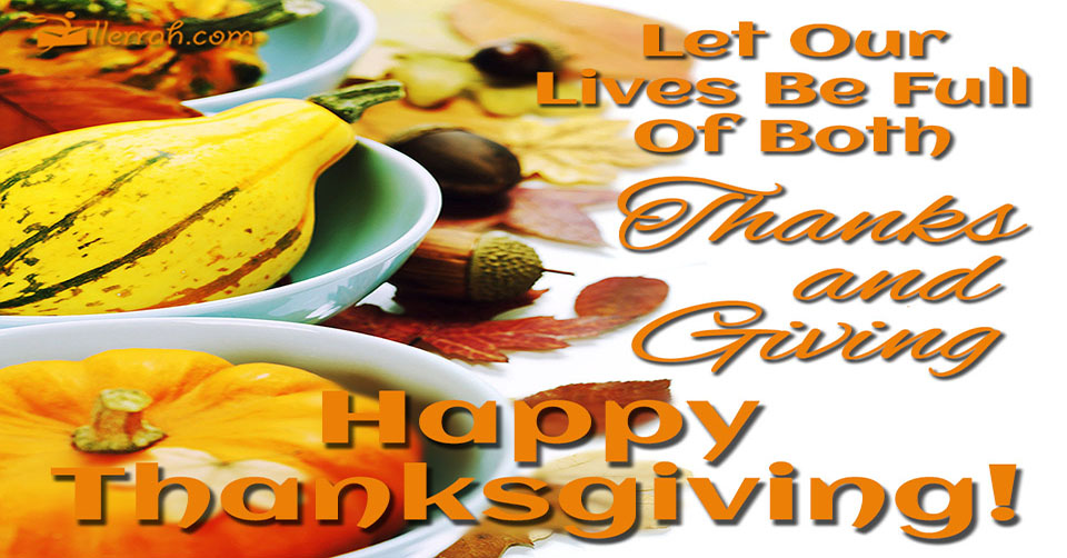 Our Lives Full Of Thanks And Giving