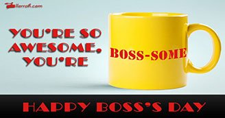 You're Boss-some (Postcard)